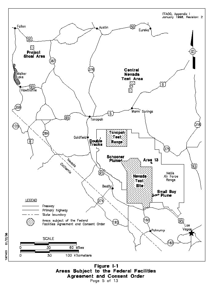 Map Of Nevada Nuclear Tests  PineNut